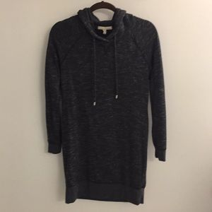 Banana Republic dark gray tunic hooded sweatshirt